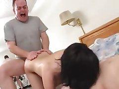 Brunette, Facial, Hardcore, Threesome