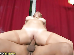 Big Tits, Blowjob, Glasses, Stockings
