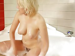 Blonde, Hairy, Shower, Teen